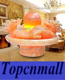 Pietre di fontana online-Feng shui fontana di pietra artigianato decorazione coperta fontana desktop umidificatore