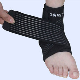 Wholesale Elastic Foot Brace - Wholesale- 1Pc Ankle Support Adjustable Sports Elastic Ankle Support Brace Pad Foot Protection Football Basketball Sports Safety