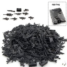 Wholesale Diy Police - DIY Military Series Swat Police Gun Weapons Pack Army Brick Arms For City Police Best Children Gift Toys
