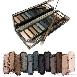 Wholesale Eye Palette Naked - In stock 2017 NAKED Skok Eye Shadow New Arrive High Quality HOT Sale Makeup NUDE Smoky Palette 12 Color Eyeshadow Palette Free Shipping
