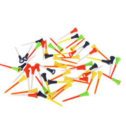 Wholesale Rubber Golf Mat - Wholesale- 30PC Multi Color Plastic Golf Tees 83mm Durable Rubber Cushion Top Golf Tee With Free Shipping