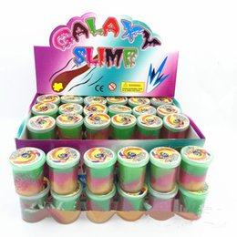 Wholesale Jokes Tricks Wholesalers - Latex Oil rainbow Colored Slime Putty Small Joke Gag Prank Gift Toy Crazy Trick Party Supply 48pcs Trick Funny Toy drums
