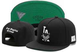 Wholesale Baseball C - Brand newest Cayler & Sons LA letter CRIMES snapback hats C letter CSBL Men Women Gorras Planas Hip Hop 2017 Baseball Caps