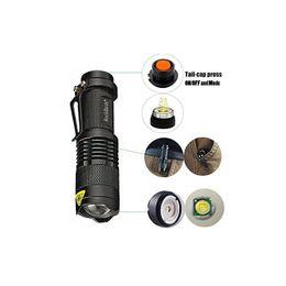 Bright mini flashlights онлайн-2017 Rockbirds светодиодный фонарик, A100 мини супер яркий 3 режима тактический фонарик, лучшие инструменты для пеших прогулок, охоты, рыбалки и кемпинга