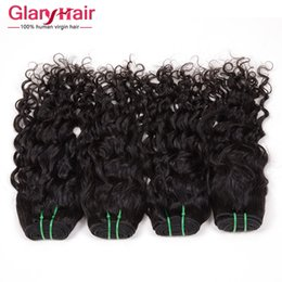 Wholesale Hair Bangs Pieces - Brazilian Water Wave Virgin Hair Extensions 8A Grade Brazilian Wavy Hair Extensions For Black Women Natural Wave Bangs Human Hair Weave 6 ps