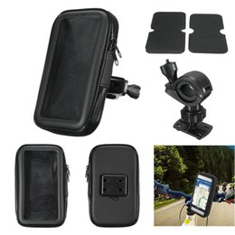 Wholesale Gps Case Bike - Wholesale Motorcycle Bicycle Phone Holder Mobile Phone Stand Support for iPhone 5 5S 5C 4S 6 Plus GPS Bike Holder with Waterproof Case Bag