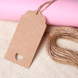 Wholesale paper punch cards - Wholesale-Wedding Kraft Hang Tags Brown Paper Party Favor Punch Label Price Gift Cards For Festive Party