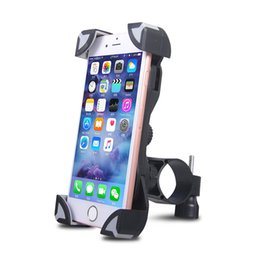 Wholesale Motorcycle Universal Phone Mount - Universal Bicycle Motorcycle Bike Phone Holder Handlebar Clip Stand Mount Bracket for iPhone 7 6s 6 Samsung Galaxy S7 Edge