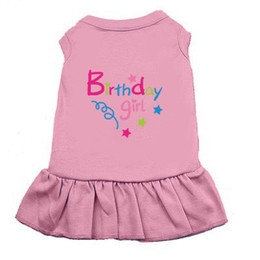 """Wholesale New Small Girls Dresses - Wholesale free shipping Print""""Birthday Girl"""" Dog summer clothes small and large Pet Dog Cat Dress Skirt Clothes Costume Five Colors"""