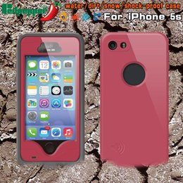 Wholesale Iphone5 Case Water - Redpepper Waterproof case cover for iphone 5 5S 5SE 5c red pepper water proof Plastic PC +TPU Shell (iphone5 with finger ID