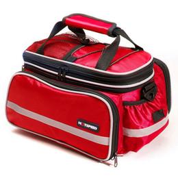 Wholesale Cycling Rear Bag - Waterproof Cycling Bicycle Bike Outdoor Traveling Pannier Rear Seat Bag 15L Rack Trunk Shoulder Handbag Multifunctional Rear Bags