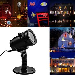 Wholesale New Wall Lights - New 14 Pattern LED Projector Light Waterproof Landscape Lighting Indoor Wall Spotlight Laser Projection Lamp Halloween Christmas Fairy Light