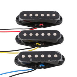 Wholesale Pickup Top - 3PCS N M B Single Coil Ceramic Magnet Pickup Flat Top for ST Guitar Black