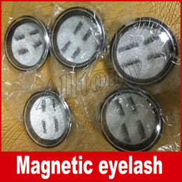 Wholesale Eyes Extensions - Magnetic Eye Lashes 3D False Magnet Eyelashes Extension 3D Fake Eyelashes magnetic eyelashes 4pcs=1pair with retail package