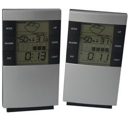 Argentina Alta precisión LCD Digital Interior Temperatura electrónica Humedad Medidor Reloj Estación meteorológica Termómetro Higrómetro con luz de fondo Suministro