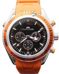Wholesale Planet Ocean Original - Luxury brand dive chronograph 007 blue Mens Watch Professional Planet Ocean Co-Axial Dive Wristwatch original clasp Men Watches