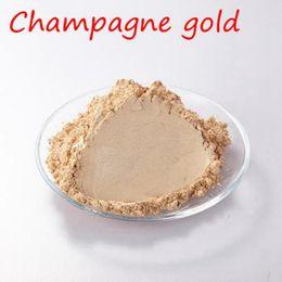Champagner-nagelkunst online-Champagner Gold Pearl Pigment Pulver Farbstoff Keramikpulverlackierung Automotive Coatings Kunst Handwerk Färbung für Nägel, Lidschatten