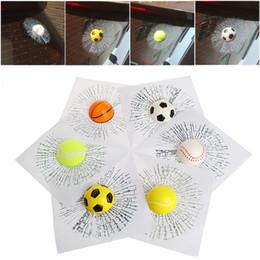 3d ball window sticker Sconti Vendita all'ingrosso- Adesivi per auto 3D Car Ball Hit Body Window Sticker autoadesivo decalcomanie MAY16_25