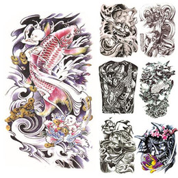 Wholesale large arm temporary tattoos - Wholesale- 2015 New Large Sexy Tattoo Skull Temporary Body Arm Stickers Removable Waterproof Sticker ATSS