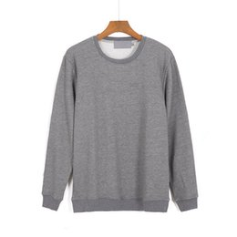 Wholesale Cheap Gray Hoodies - Free shipping warm hoodie discount soft white black top quality 2017 calvink 95% cotton cheap hoodies without hats Men keepsake mens M-XXXL