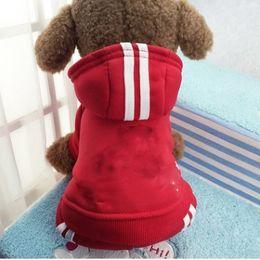 Wholesale Xxl Dog Jumpsuits - Good Quality Cotton Fashion Winter Pet Dog Jumpsuit Super Man Pattern Small Medium Large Dog Four Legs Hoodie XS XXL