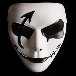 Wholesale Ghost Faces - Wholesale-Halloween Mask - Hot Sale Hand-painted Masks Wholesale Hip-hop White Mask Dance Step Ghost Halloween Party #1850094
