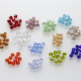 Wholesale Green Bicone Beads - 4mm 1000pcs AAA Bicone jewelry crystal beads loose Glass Beads for Jewelry Making DIY Bracelet Necklace accessories TOP Quality