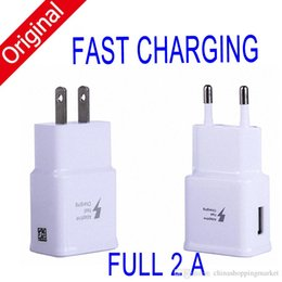 Wholesale Universal Travel Plugs - Original Quality Fast Charging 5V 2A Eu US Plug Usb Wall Charger Adapter Home Travel USB Charger For S8 s7 S6 edge plus Note