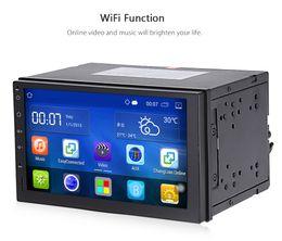 Estéreo de rádio android on-line-2 Din Android 5.1 Rádio Do Carro Estéreo de 7 polegada Tela Sensível Ao Toque Do Carro DVD Player de Navegação GPS Bluetooth USB SD Controle de volante