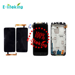 Wholesale One X Screen - Black For HTC One X S720E G23 LCD display touch screen with Digitizer + Beze Frame + Tools Free with & without frame DHL Free shipping