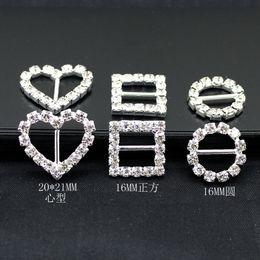 16 mm ronda de diamantes de imitación hebillas de cristal broches 20 mm barra de la invitación de la cinta de la silla cubre Slider Sashes Arcos hebillas suministros de la boda desde fabricantes