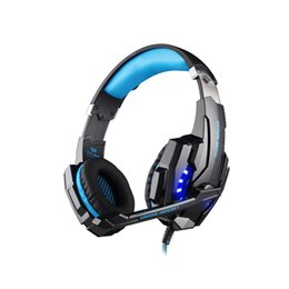 Wholesale Headset Plugs - Head mounted G9000 plug in wired headphones, PS4.PC computers,.HiFi headsets, computer games, headphones, 3.5 single holes with wheat