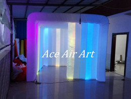 Wholesale Inflatable Event Tents - 3mL*3mW*2.5mH Colorful Led Inflatable Photo Booth Cube tent Inflatable Cabin for Sale add fun to your event