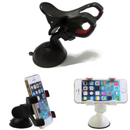 Wholesale Double Car Dvr Gps - Double clip phone holder for car universal mobile cell phone mount car holder stand for iphone 6 6s plus galaxy S6 Car DVR GPS