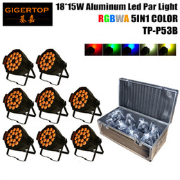 Wholesale X Lens Led - TIPTOP 8IN1 Roadcase Pack 18 x 15W RGBWA 5IN1 Color DMX LED Par Cans 64 , LED Wash Lights Lens Angle 25 Degree 110V-240V TP-P53B