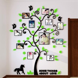 Wholesale Wall Decorations For Living Rooms - Pictures Decor Frame Stickers 3D Wall Stickers Creative Style Design Wall Stickers Decorative Acrylic Decoration