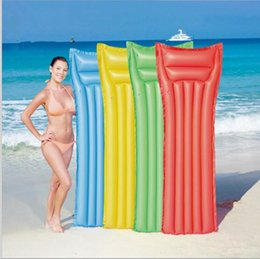 Wholesale floating pool mats - Floats Pool Mat Inflatable Water Beds Floating Water Lounger Air Bed Water Floating Bed Swimming Pool Floating Bed YYA74