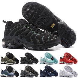 Wholesale Plus Size Shoes Flats - 2017 new Free Shipping Famous Air Plus TN Ultra Mens Sports Athletic Running Shoes Sports Shoes Sneaker Trainers shoes Size 40-46