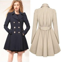 Wholesale Xxl Ladies Long Winter Coats - Fashion Jackets Ladies Lapel Winter Warm Long Parka Trench Outwear Size S-XXL Trench Coats Outerwear Women Apparel Clothing 3Colors Free DHL