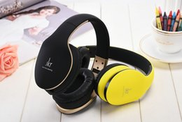 Wholesale Ear Headphones Folding - JKR-102 Wired Earphones DJ Headphone Headset Over Ear Noise Cancelling Folding Headphone with Mic For Cell Phone Computer MP3 MP4