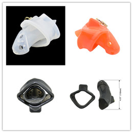 Wholesale Chastity Cage Silicone - Silicone Cock Cage Male Chastity Devices for Men Penis Cage Lock Chastity Belt Gay Adult Game Sex Toy Penis Lock Device Bondage CP-A140