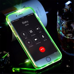 Led Flash Phone Case pour iPhone 6 6 plus fashional Light Flash Appel d'appel Tube boîtier de téléphone série pour iPhone 7 à partir de fabricateur