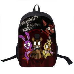 Wholesale Night Backpack - Wholesale- Anime Five Nights At Freddy Backpack For Teenagers Boys Girls School Bags Five Nights At Freddys Bag Children School Backpacks