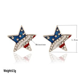 Wholesale Animal Snap Watches - New watch USA flag Five-pointed star 18MM new snap silver fit DIY new snap jewelry wholesale