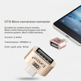 Wholesale Multi Charger For Mobile Phones - Android SystemGeneral Mobile phone universal otg adapter micro to USB2.0 mini OTG multi-function conversion head Micro conversion connector