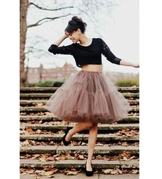 Wholesale Cheap Tutu Skirts - 2017 Real Picture Knee Length White Tulle Tutu Skirts For Adults Custom Made A-Line Cheap Party Prom Dresses Women Clothing Tulle Skirts