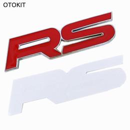 Marque 1 Set Métal RS Emblème Badge Tronc Autocollant pour Ford Focus Chevrolet Cruze Kia Sportage Skoda Octavia Mazda VW Hyundai ? partir de fabricateur