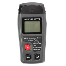 Wholesale Wholesale Timber Wood - Wholesale-New Range 0-99.9% 2Pins Digital LCD Display Wood Moisture Meter Humidity Tester Timber Damp Detector Hygrometer 0.3-CSY01H