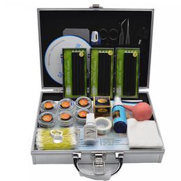 2019 caixa de cílios individuais 2016 nova de alta qualidade Maquiagem Profissional Extensão Dos Cílios Falsos Conjunto de Cosméticos Kit Olho Individual Feito À Mão Natural Longo Cílios com caixa desconto caixa de cílios individuais
