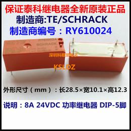 Wholesale 5vdc Power - Free shipping lot (5 pieces lot) 100%Original New TE TYCO SCHRACK RY610005 5VDC RY610012 12VDC RY610024 24VDC 8A 250VAC 5PINS Power Relay